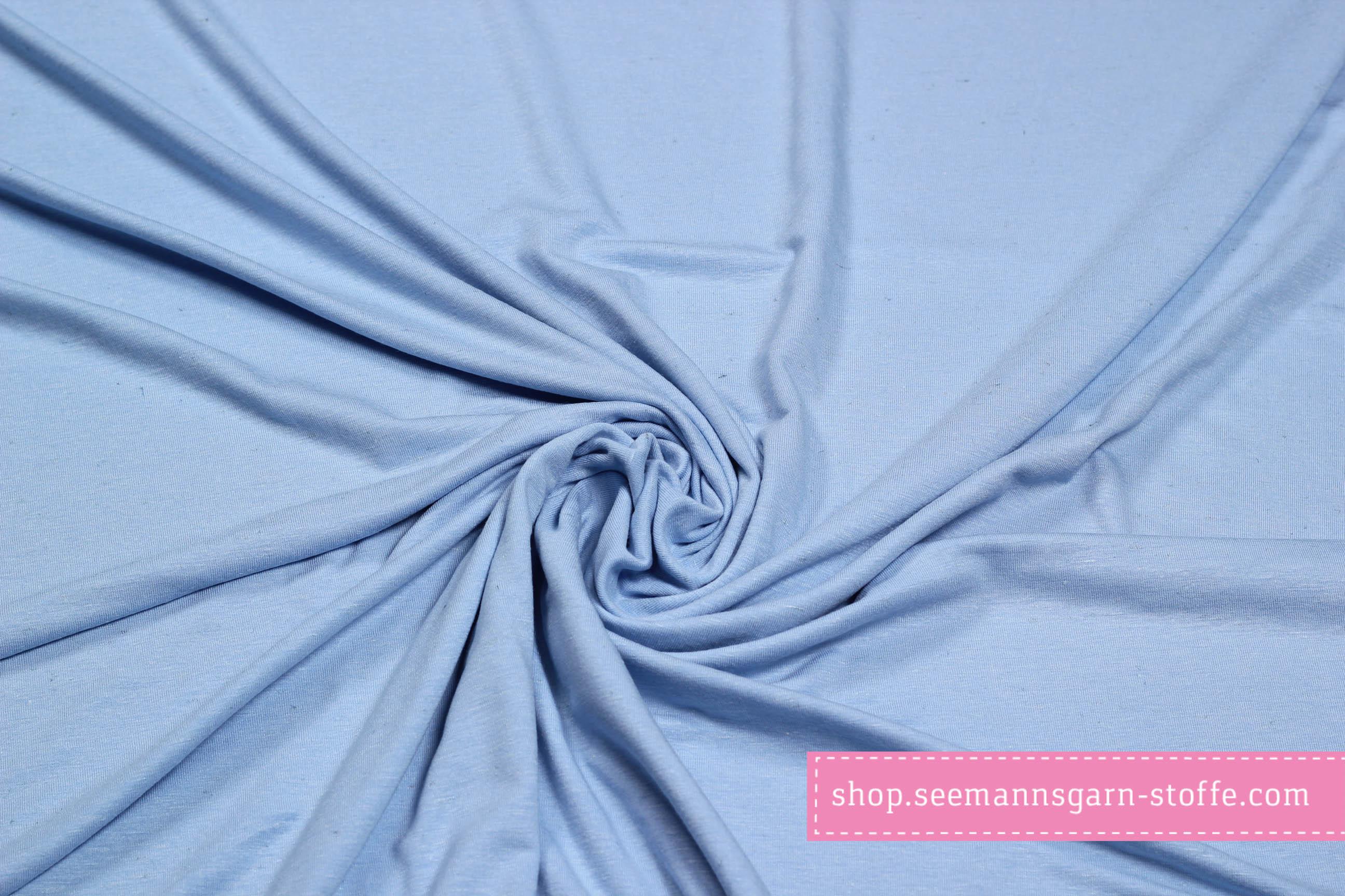 Viskose Stretch Jersey - hellblau