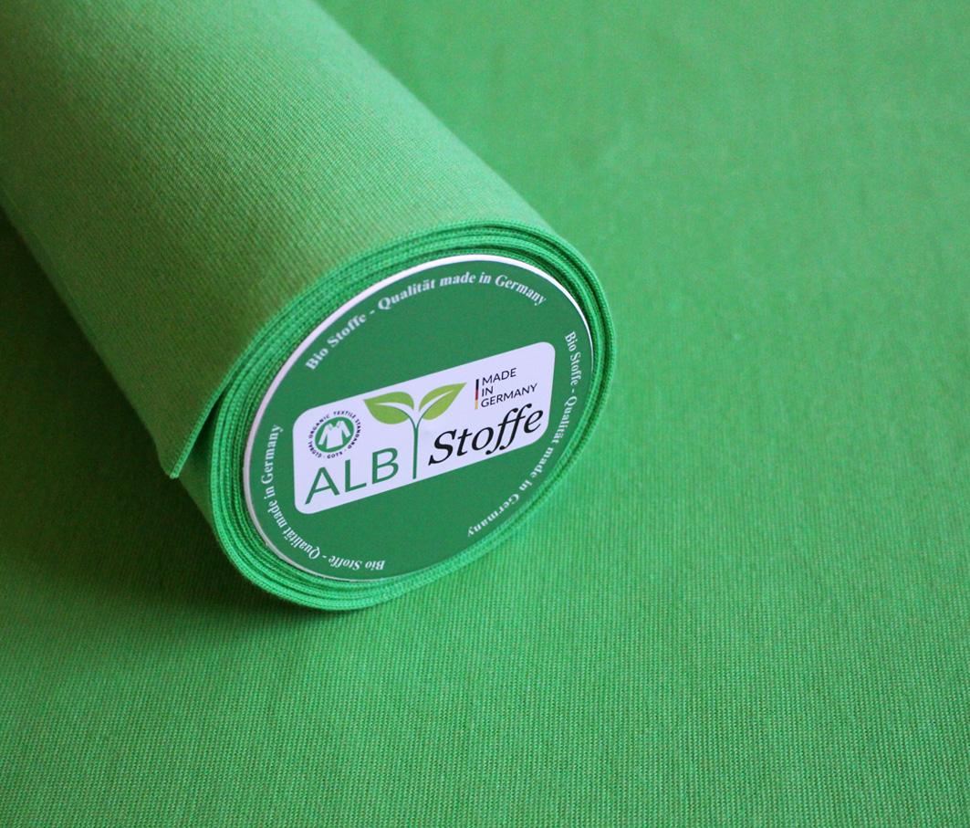 Bio-Bündchen von Albstoffe in grün