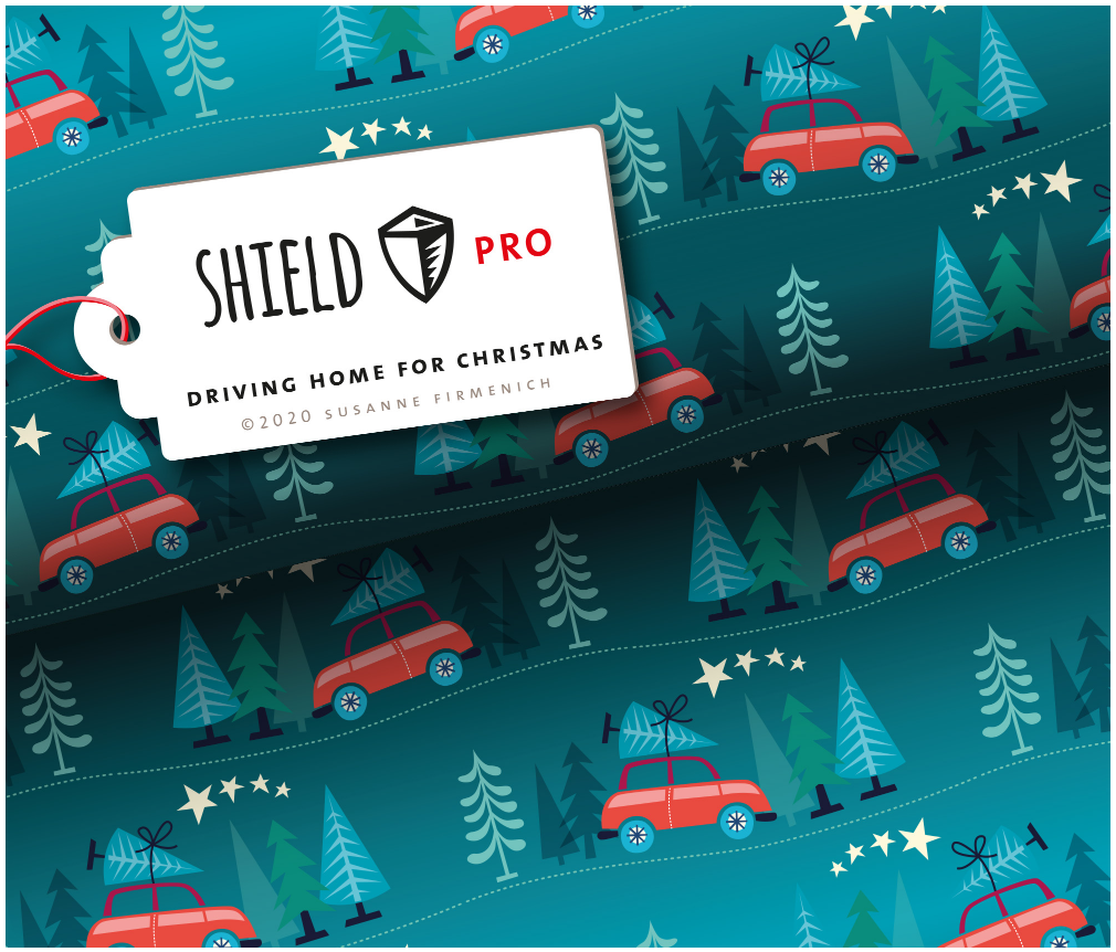 Shield Pro - Driving Home For Christmas von Hamburger Liebe & Albstoffe - antimikrobiell