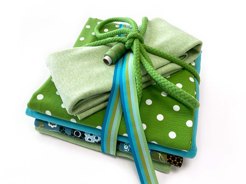 Stoffpaket Mini Elefantastic in grün und blau von SEEMANNSgarn