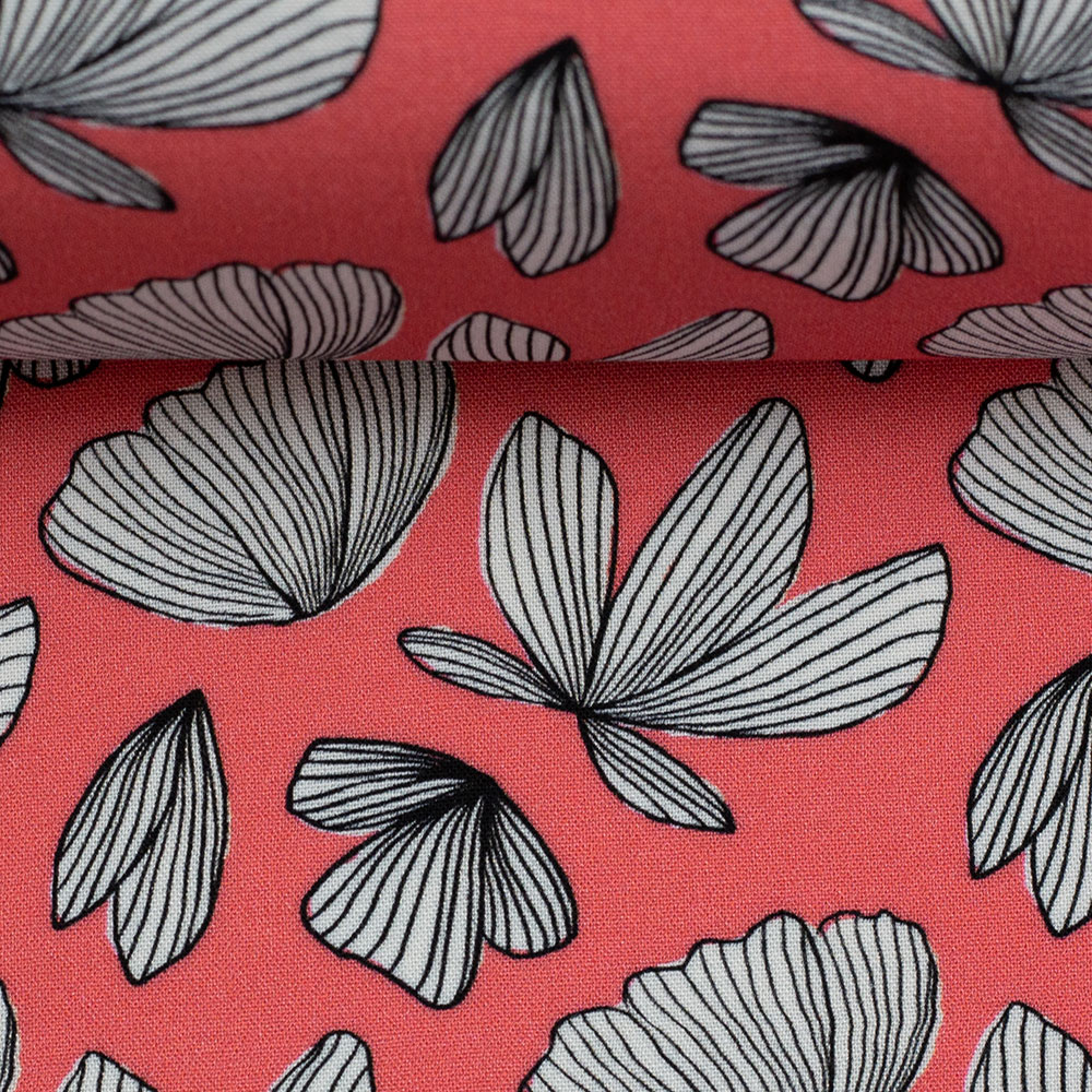 Viskose Webware - Boho Fly by Jolijou - koralle - Swafing