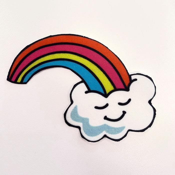 Applikation im Hamburger Liebe Design - Wolke und Regenbogen