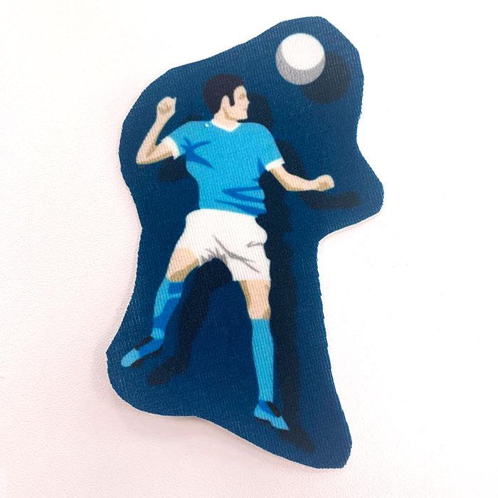 Applikation im Hamburger Liebe Design - Fußballer