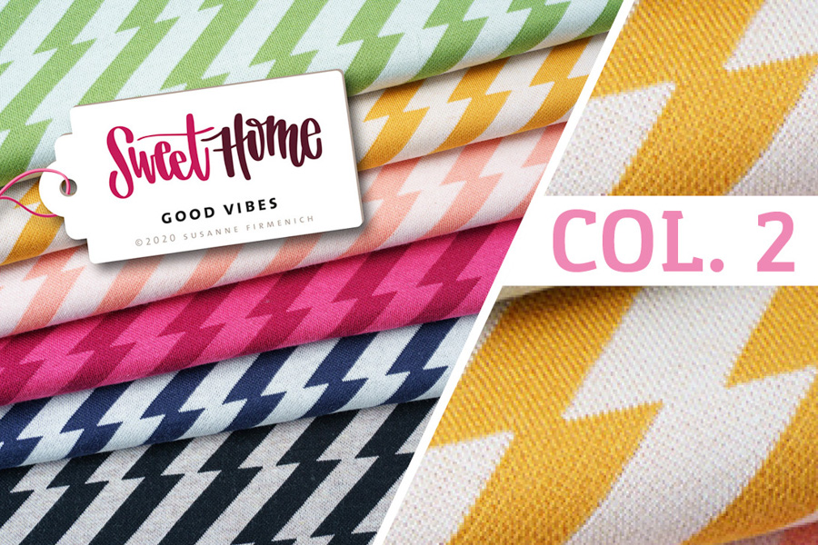 Bio-Jacquard-Jersey - SWEET HOME Good Vibes Col. 2 (gelb) - HAMBURGER LIEBE & ALBSTOFFE