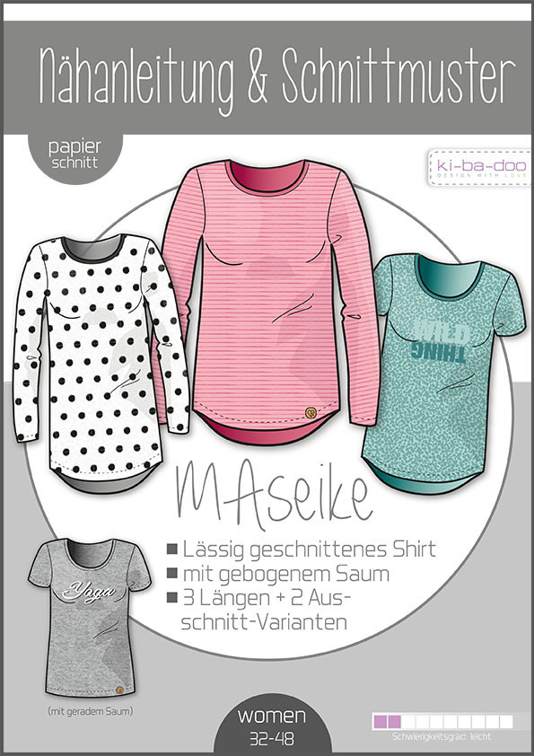 KI-BA-DOO MaSeike Shirt Damen Papierschnittmuster