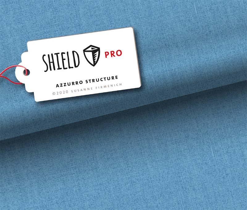 Shield Pro - Uni Structure in azzurro von Hamburger Liebe & Albstoffe