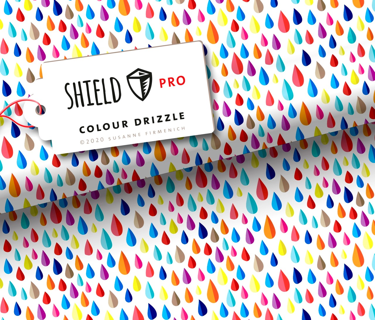 Shield PRO KIDS - Colour Drizzle von Hamburger Liebe - antimikrobiell für Atem-und Mundmasken!