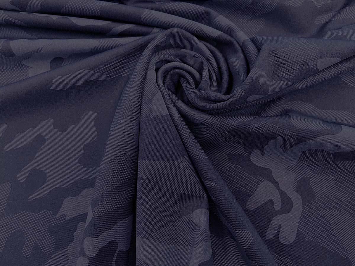 Funktionsjersey - Camouflage in dunkelblau
