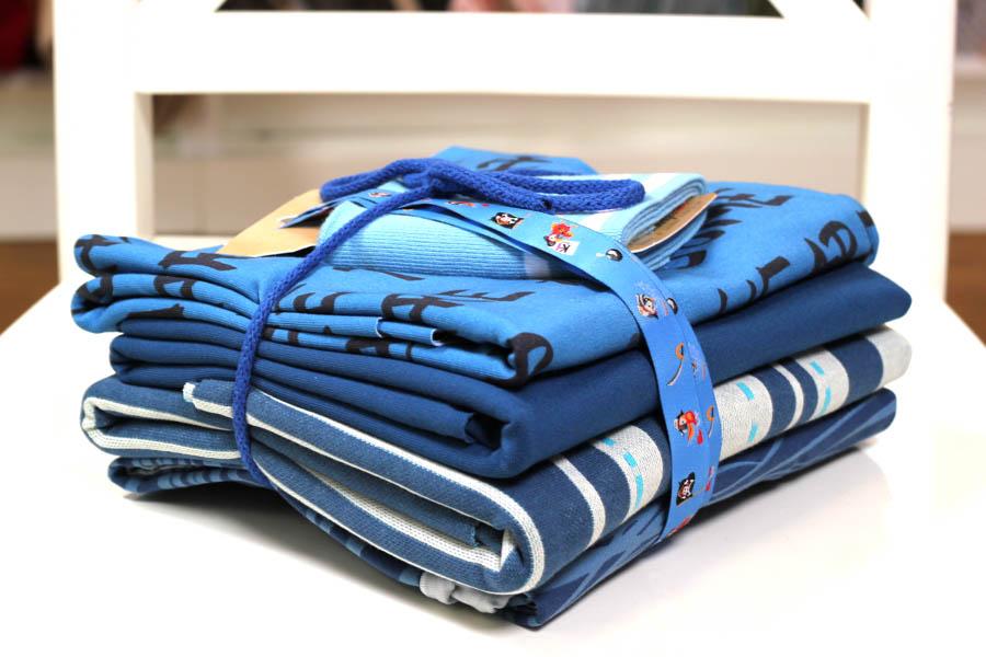Stoffpaket in blauen Fabrtönen | blue is the limit