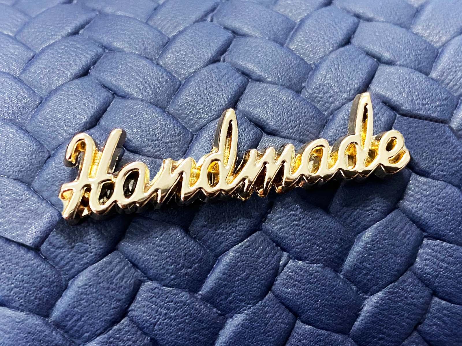 Label aus Metallgold - Handmade