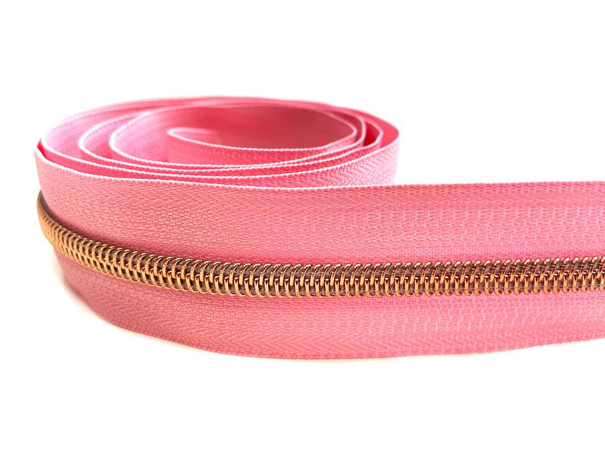 Reißverschluss in rosa/rosègold - 1m - endlos