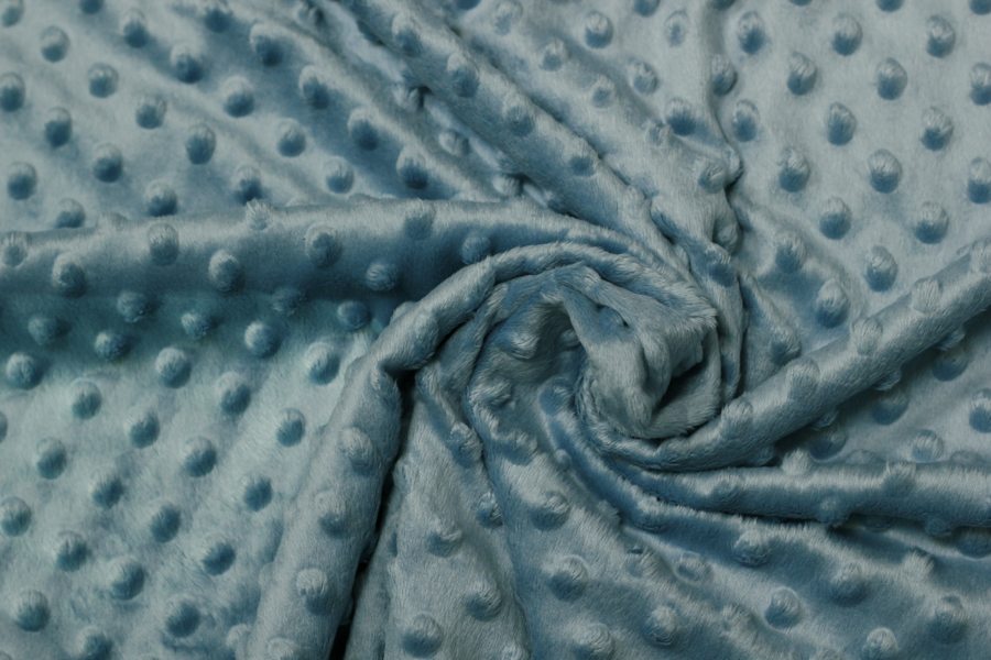 Fleece - hellblauer Stoff mit Struktur