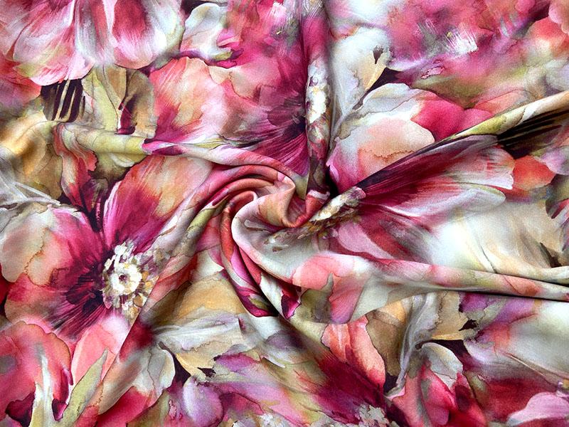 Viskose Webware Germini mit Blumen Malerei Design von Hilco
