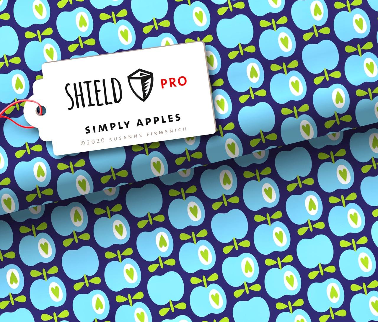 Shield PRO KIDS - Simply Apples von Hamburger Liebe - antimikrobiell für Atem-und Mundmasken!