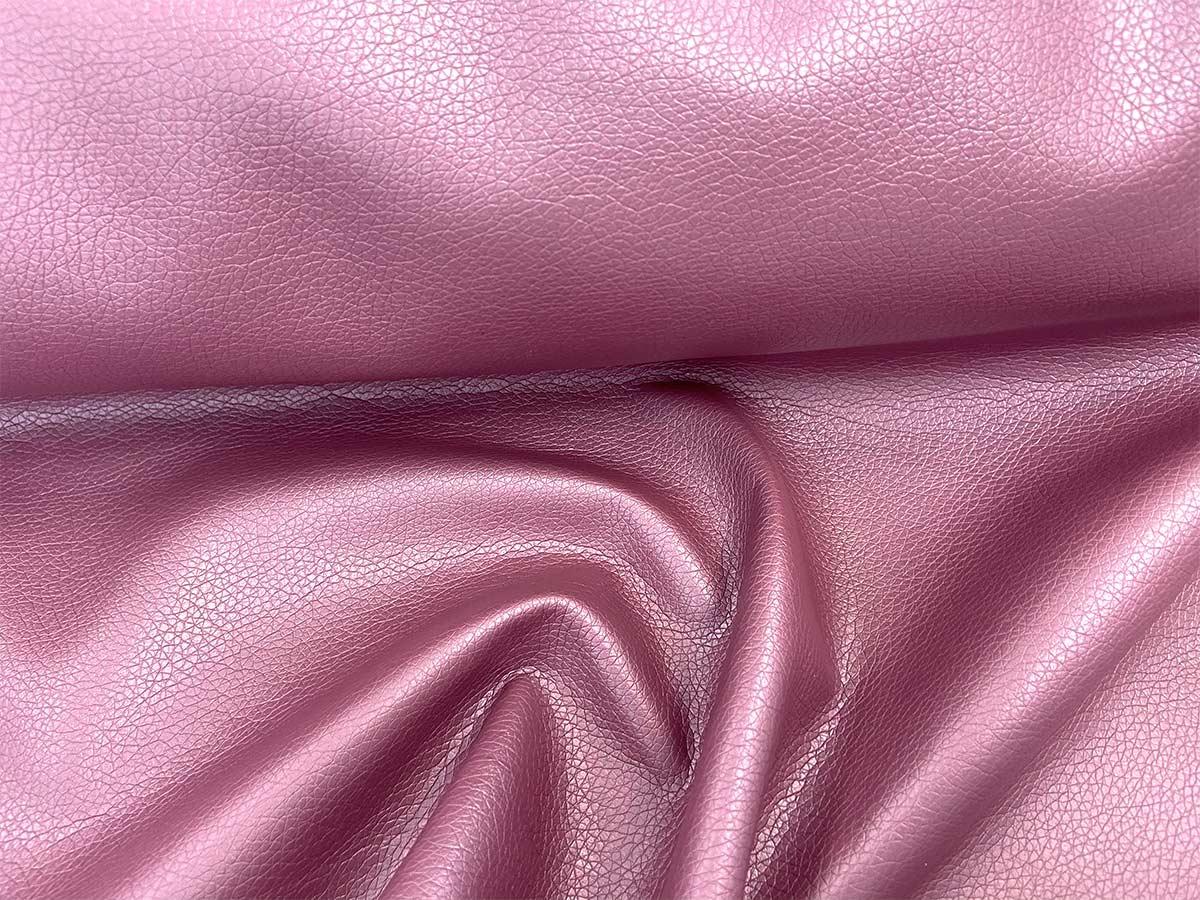 Kunstleder - rosa uni