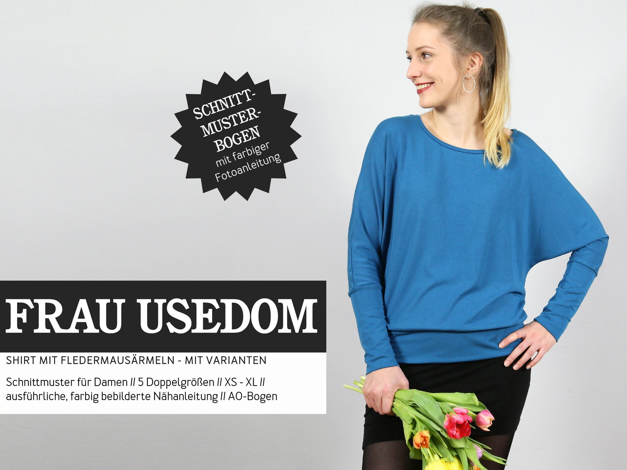 STUDIO SCHNITTREIF Frau Usedom Bluse Papierschnittmuster