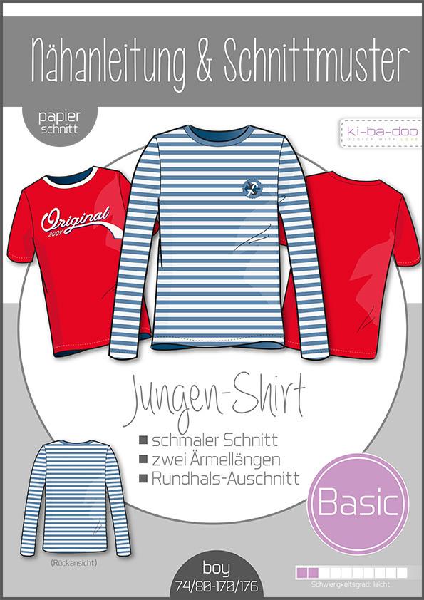 KI-BA-DOO Basic Shirt Papierschnittmuster
