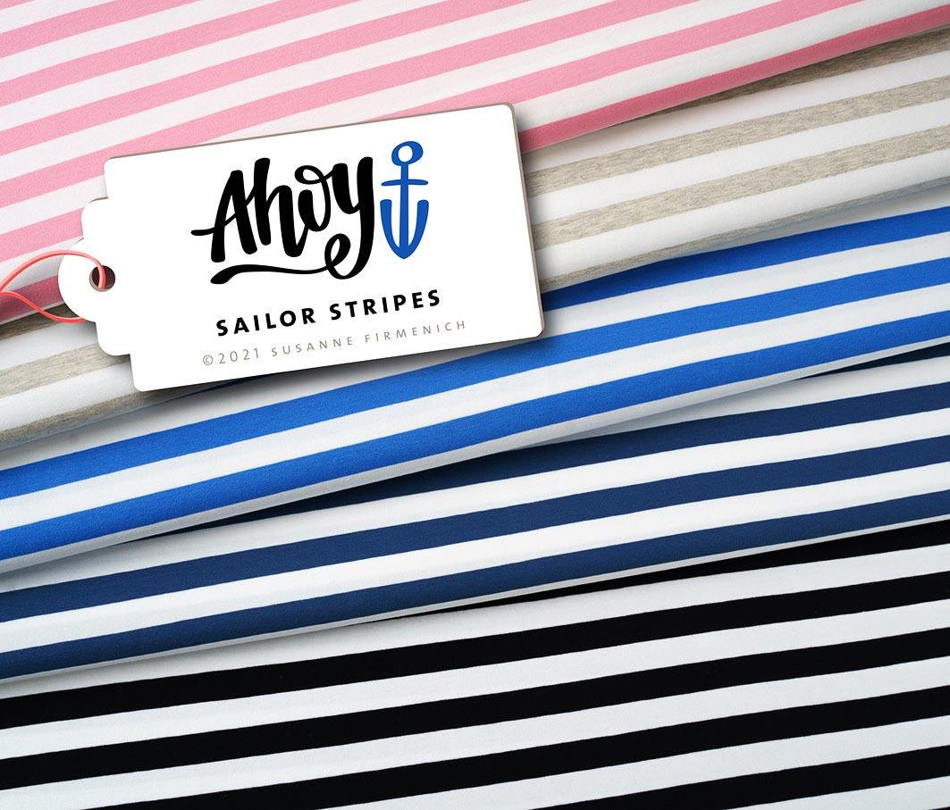 Sailor Stripes Ahoy Jersey von Albstoffe & Hamburger Liebe
