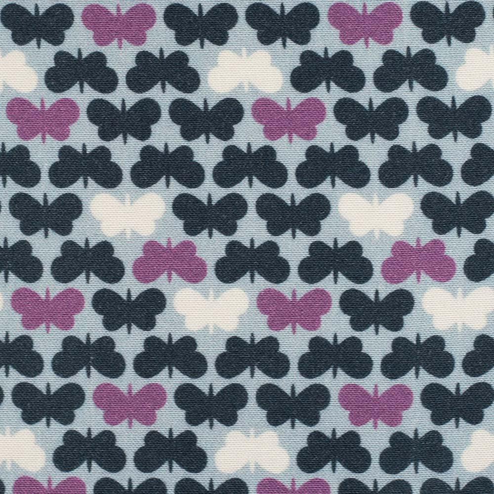 Viskose Webware - Butterflies by Lycklig Design - blau - Swafing