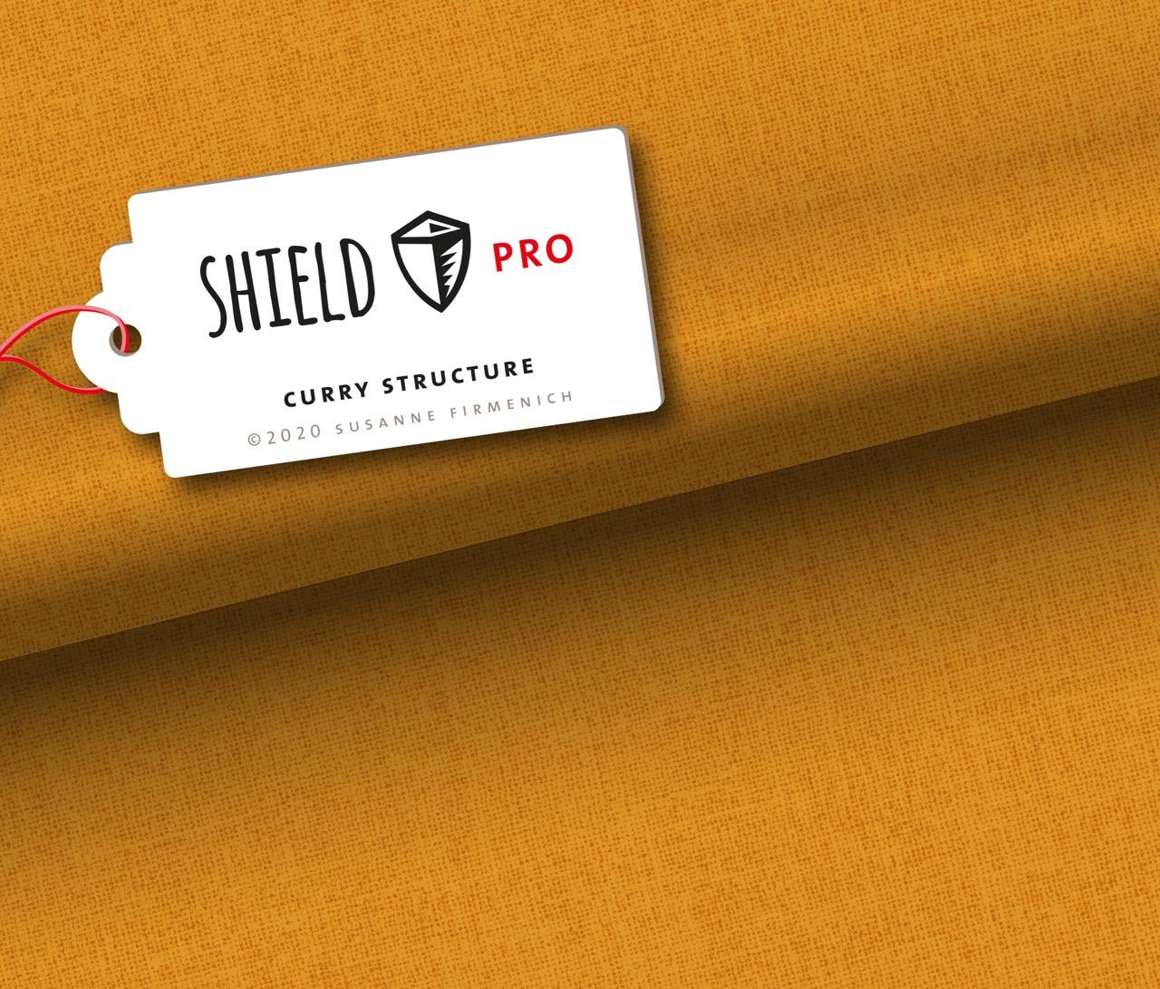 Shield Pro - Uni Structure in curry von Hamburger Liebe & Albstoffe - antimikrobiell