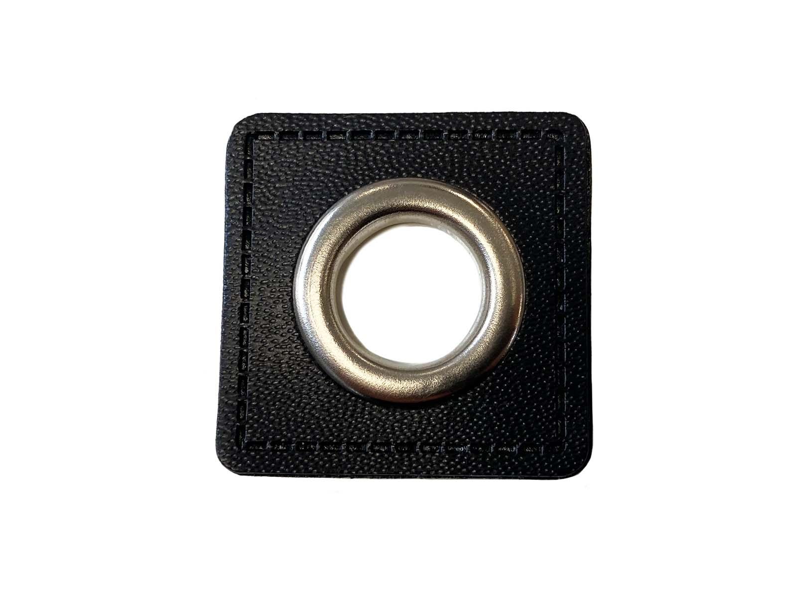 Ösen-Patch in schwarz - 13 mm Öse