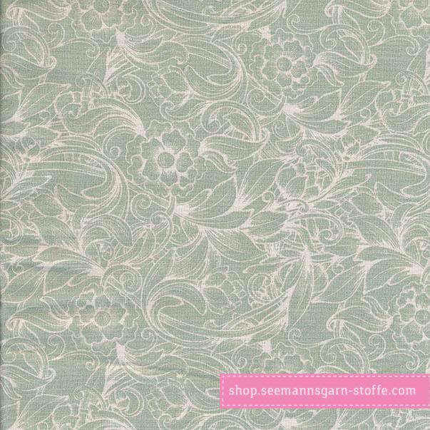 Wachstuch - Oilcloth Caroline Verte