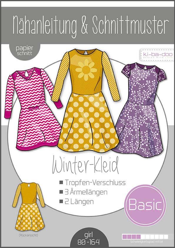 KI-BA-DOO Winterkleid Mädchen Papierschnittmuster