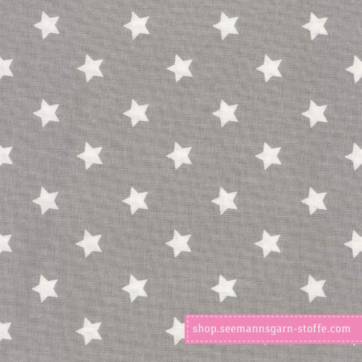 Wachstuch - Oilcloth Big Star Grey