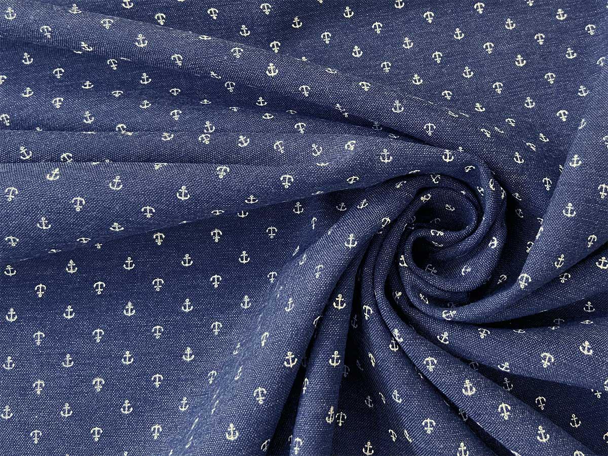 Webware Baumwolle - BLUE BY BLUE Anker - jeansblau - Hilco