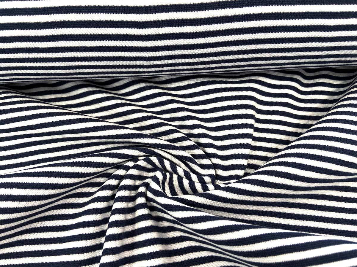 Bündchen - dunkelblau/weiß gestreift