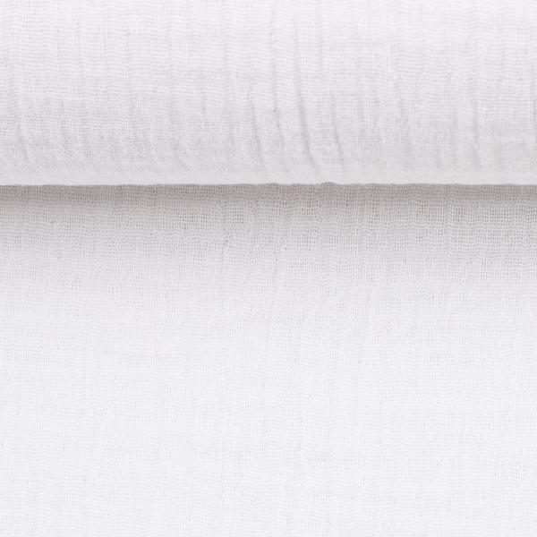 Musselin Double Gauze - Jenke in weiß | SWAFING