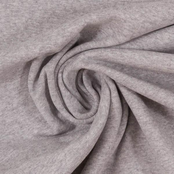 Schlauchware melierte Bio-Bündchen in grau | SWAFING
