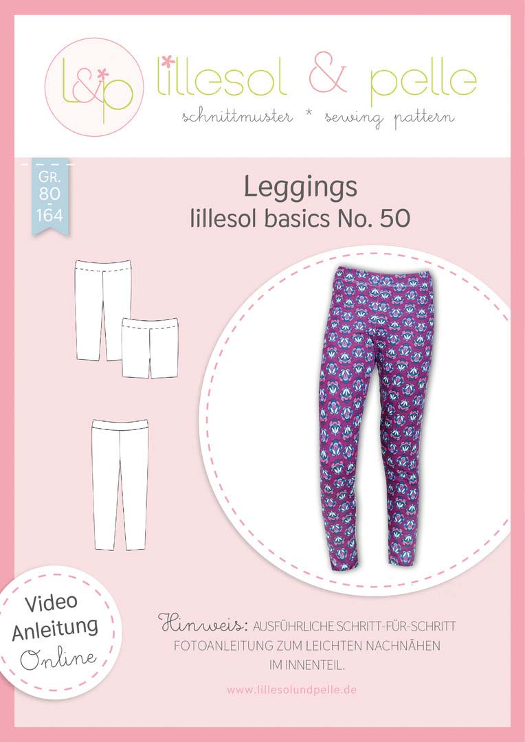 lillesol & pelle Leggings Papierschnittmuster