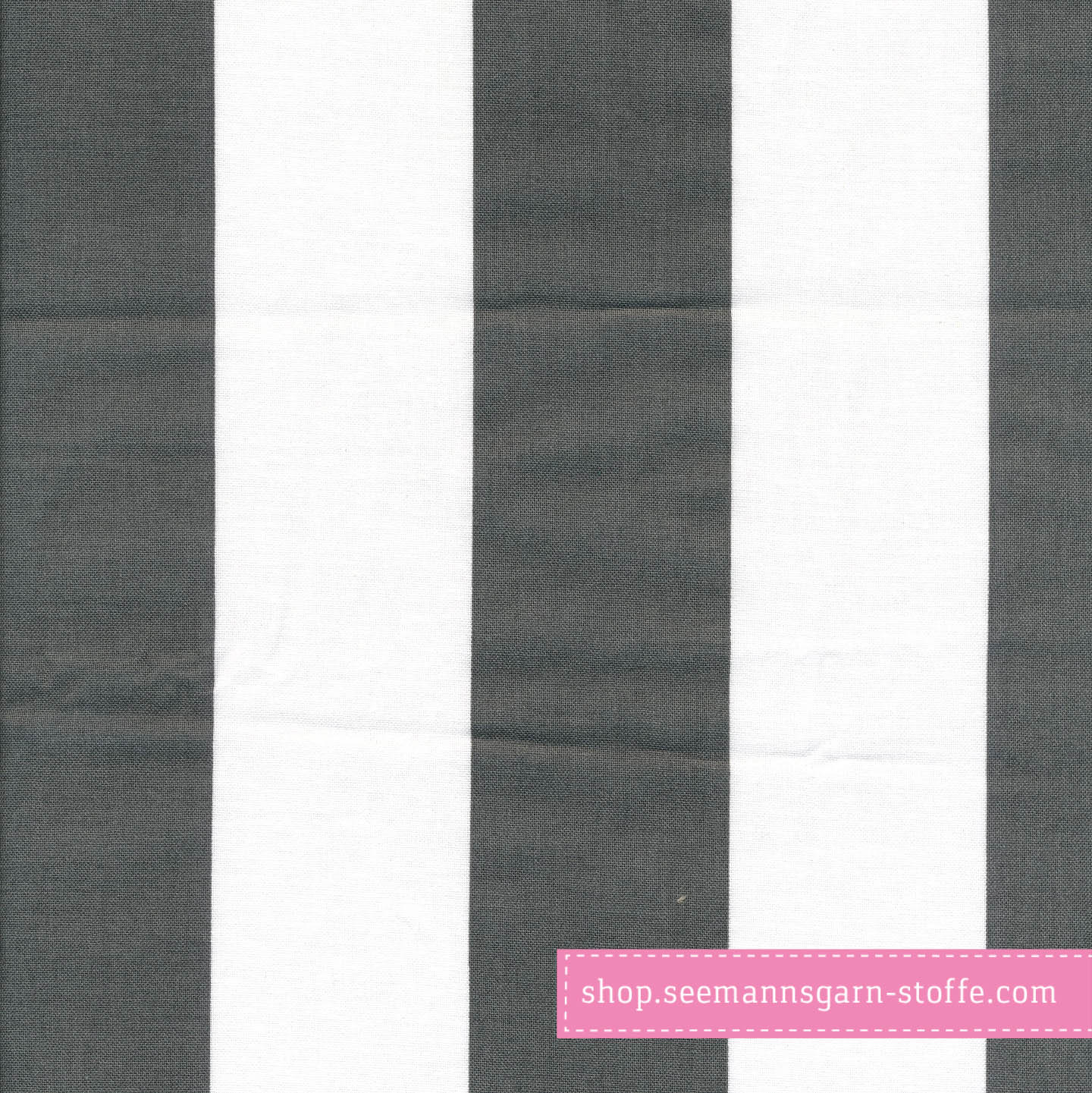 Wachstuch - Oilcloth Stripe Giant Almost Black