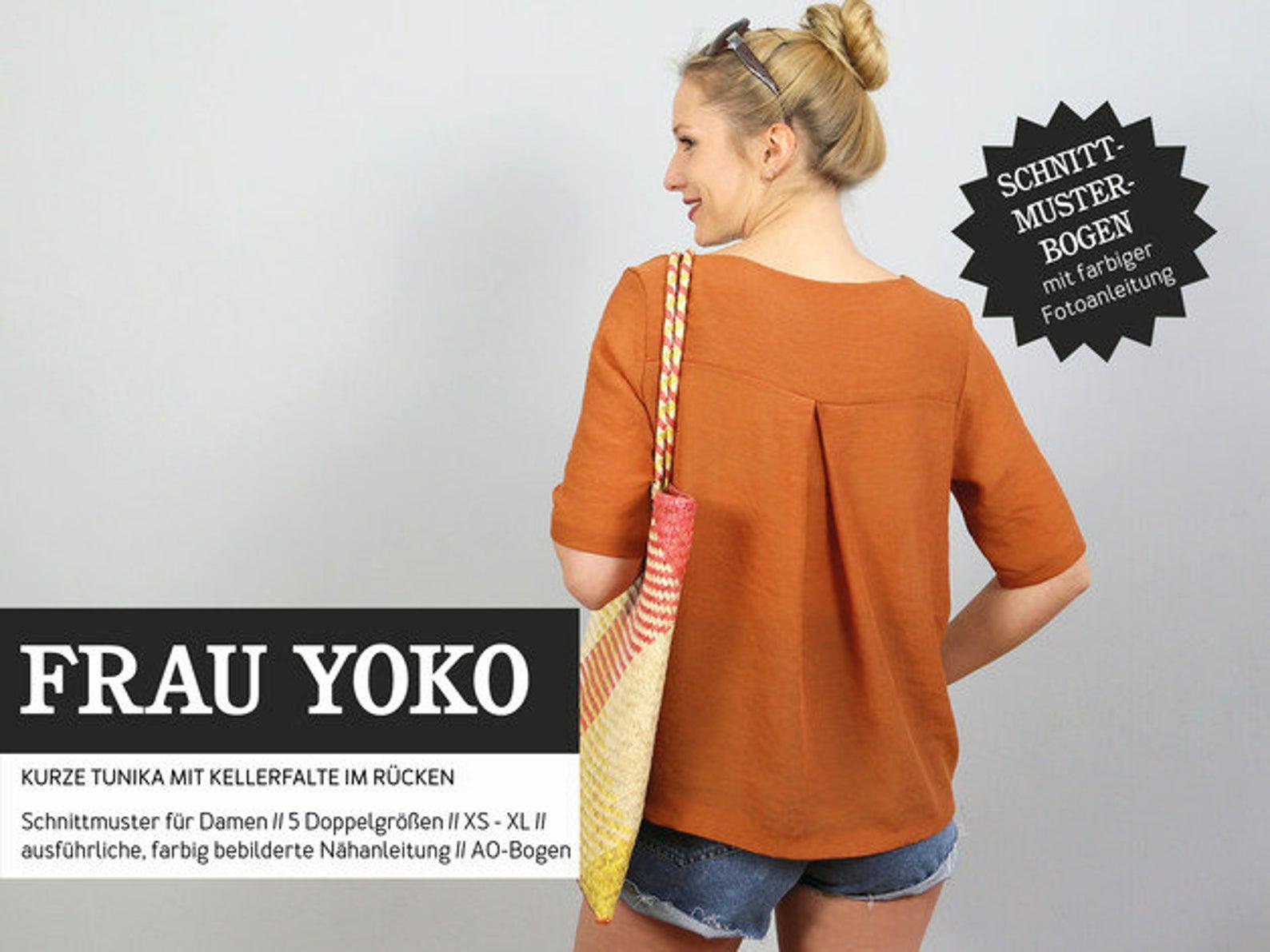 STUDIO SCHNITTREIF Frau Yoko Tunika Bluse Papierschnittmuster