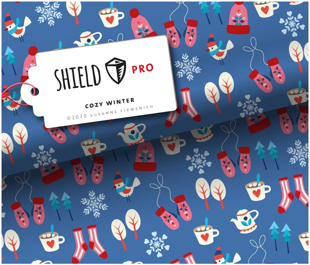 Shield Pro - Cozy Winter von Hamburger Liebe & Albstoffe - antimikrobiell
