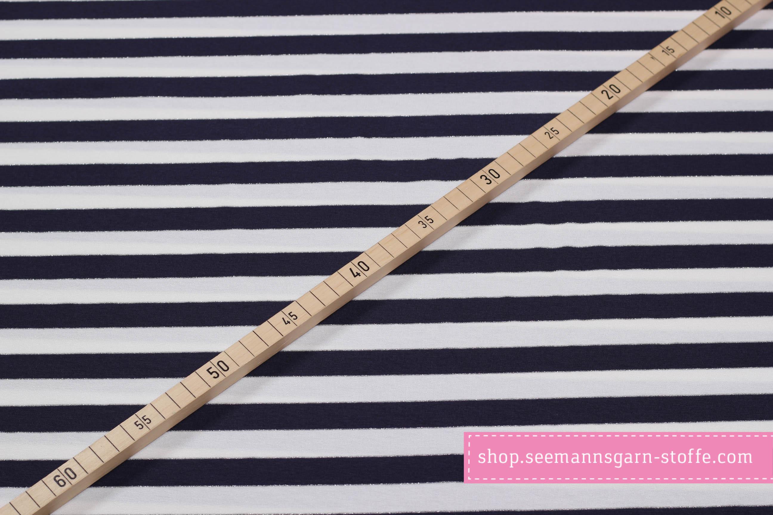 Viskose Stretch Jersey - Streifen schwarz/weiß