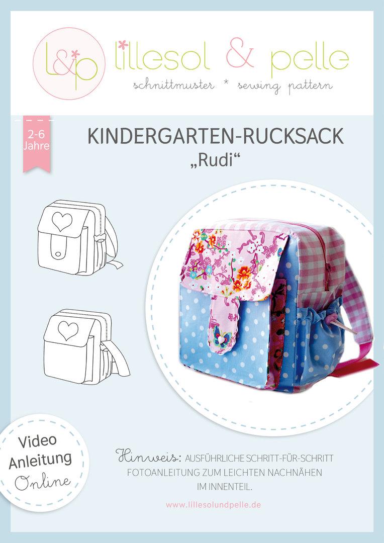 LILLESOL & PELLE Kindergartenrucksack Papierschnittmuster