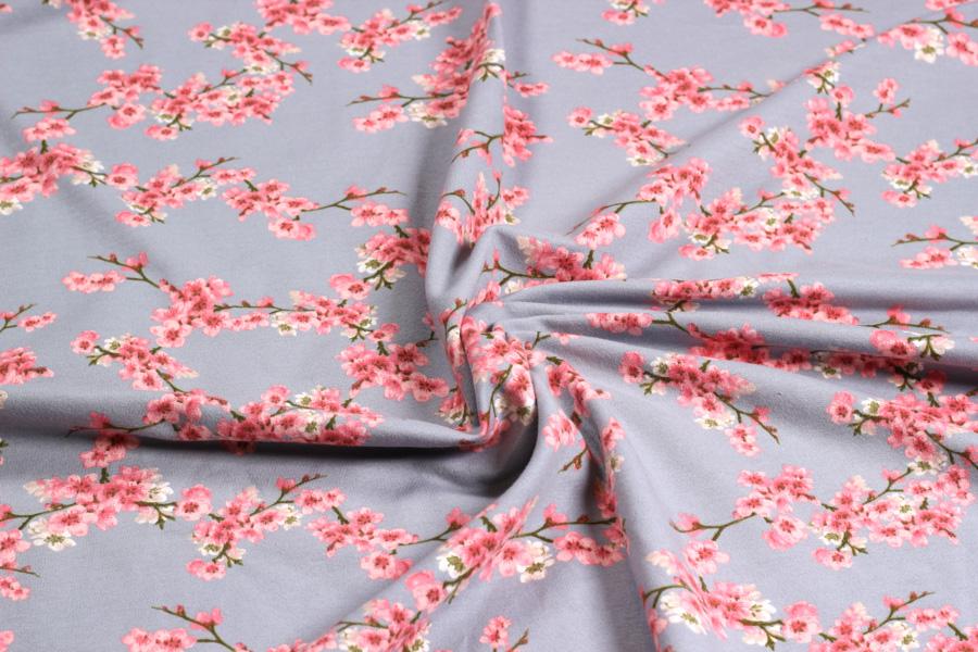 Bio-Sweat Cherry Blossom in grau von VERHEES TEXTILES