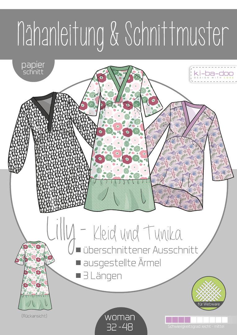 KI-BA-DOO Lilly Kleid Boho Tunika Damen Papierschnittmuster