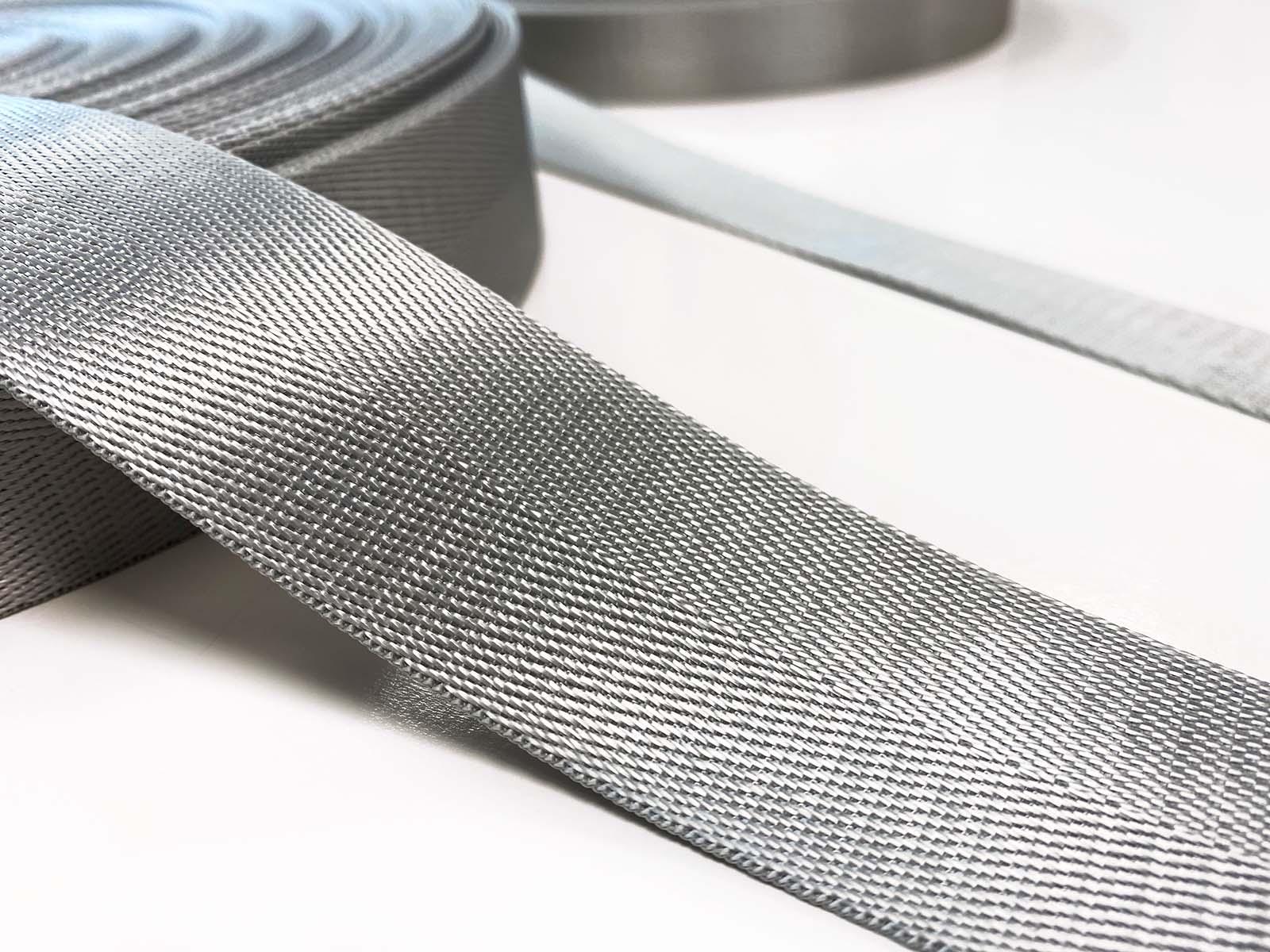 Nylon Gurtband grau