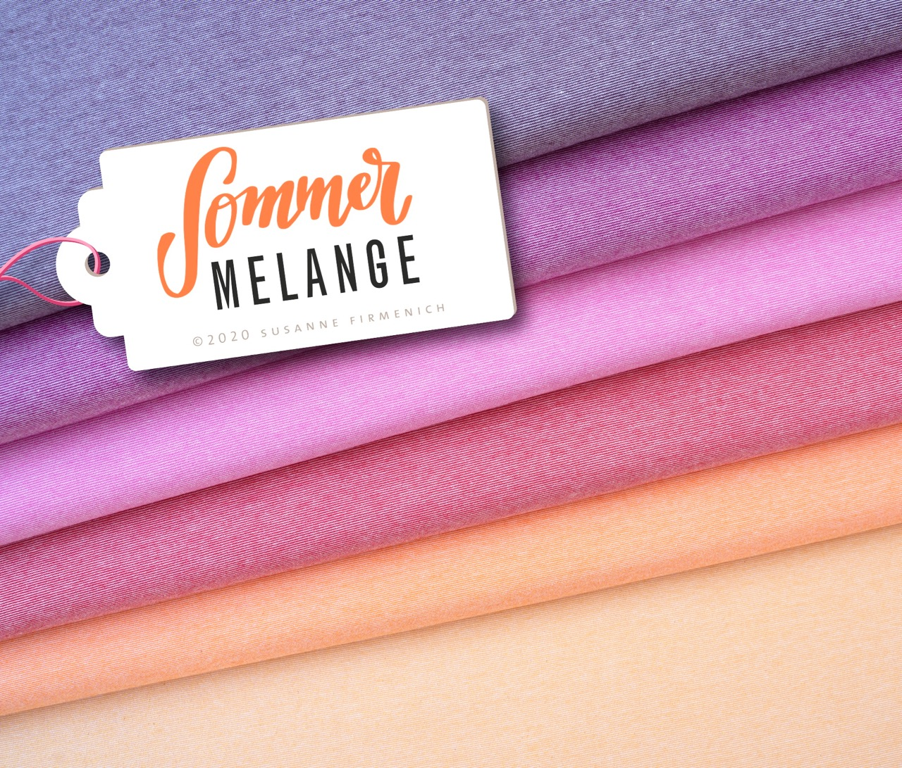 Mélange Single Jersey - Sommerfarben in Pastell Pink