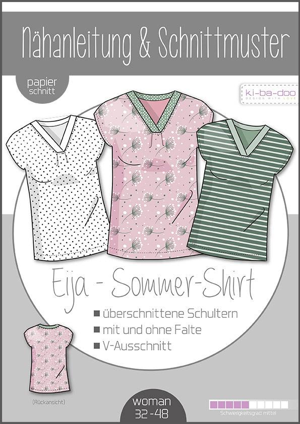 KI-BA-DOO Eija Sommer Shirt Bluse Tunika Damen Papierschnittmuster