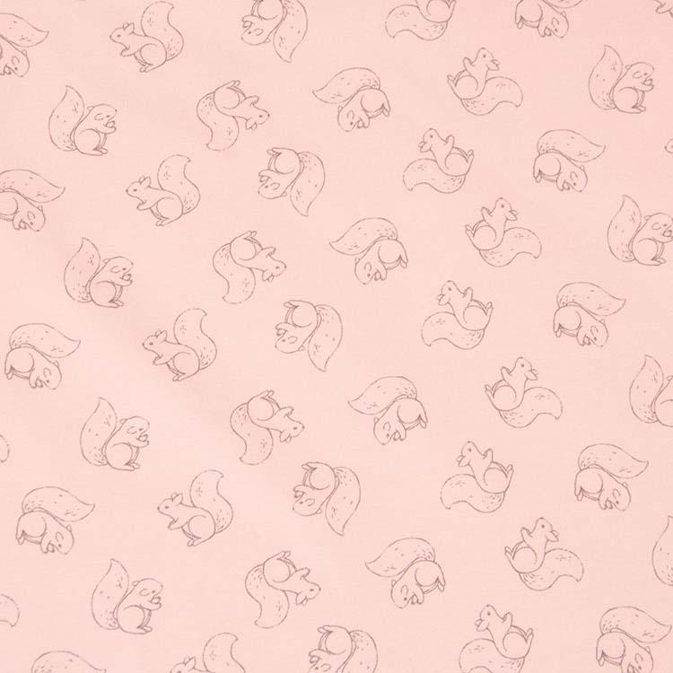 Jersey - Baby Friends rosa mit Eichhörnchen von Hilco