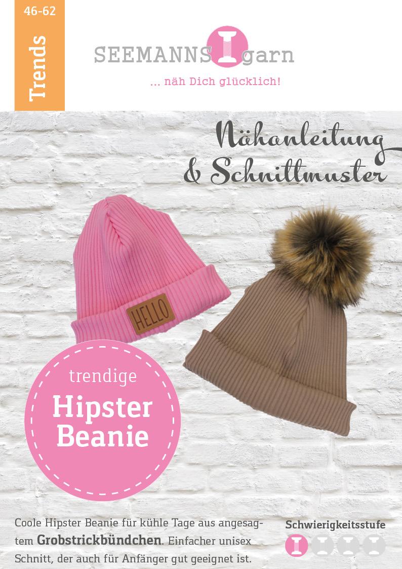 Papierschnittmuster Hipster Beanie Mütze - SEEMANNSgarn
