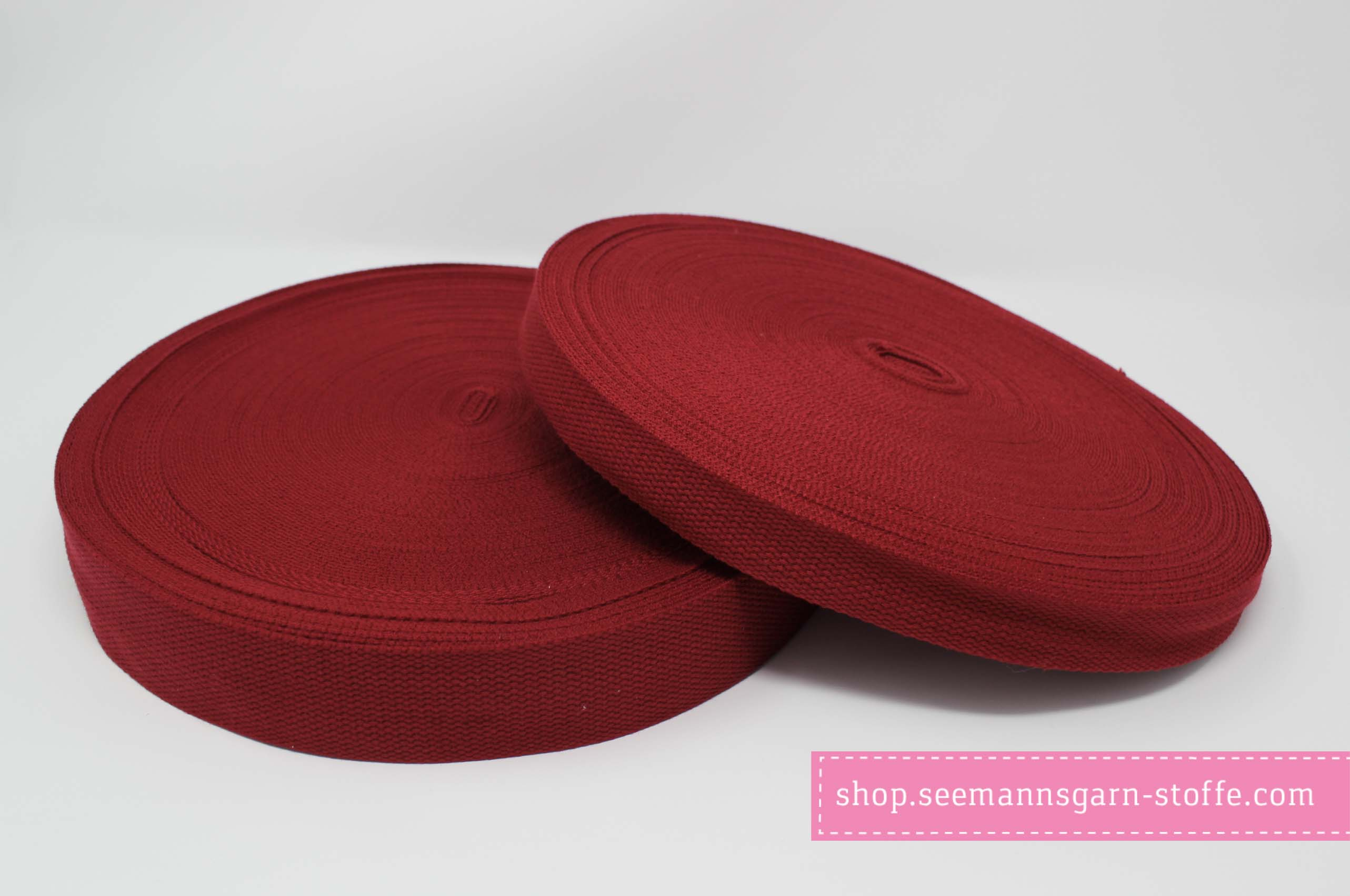Baumwoll Gurtband rot 38 mm