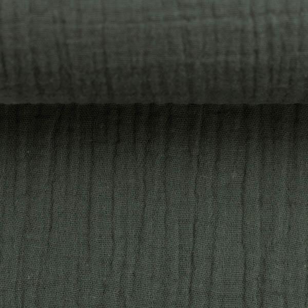 Musselin Double Gauze - Jenke in dunkelgrau | SWAFING