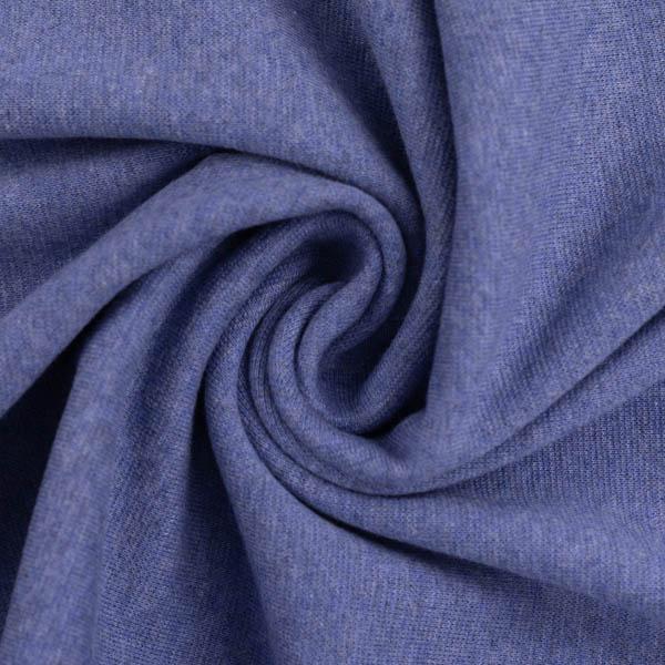 Schlauchware melierte Bio-Bündchen in blau | SWAFING