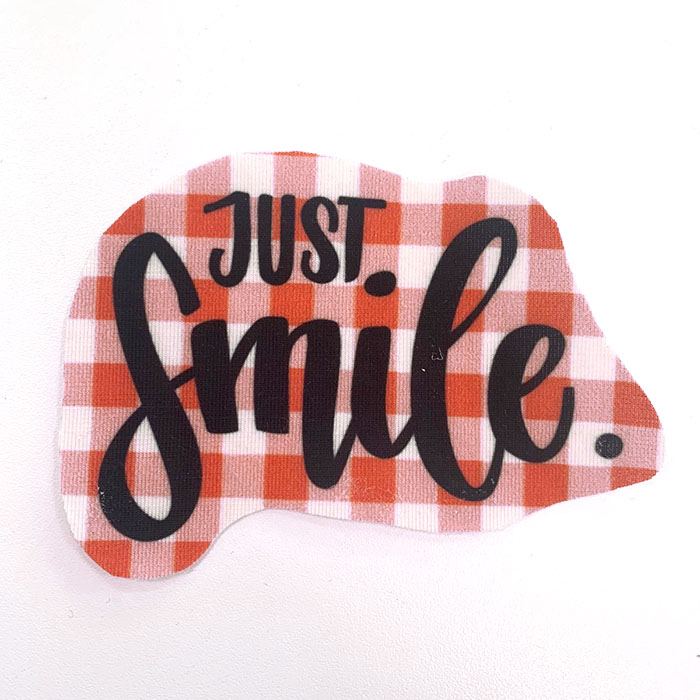 Applikation im Hamburger Liebe Design - Just Smile