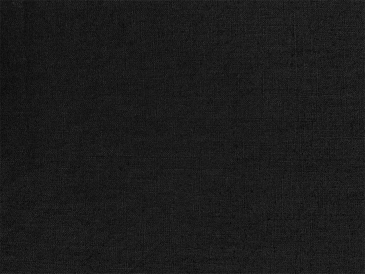 Leinen Stoff enzyym washed aus 100% reinen Leinen von Hilco in schwarz